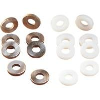 Eastern Motorcycle Parts Steel Breather Valve Washer Kit ()