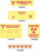 Radioactive Waste Label, Store for Decay, 240 per Roll