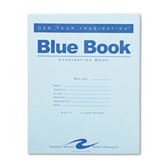 Roaring Spring Exam Blue Book, Margin Rule, 8-1/2 x 7 Inches, White, 12 Sht/24 Page (77513)