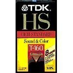 TDK T160HS 160-Minute Standard Grade VHS Tape (Discontinued by Manufacturer)