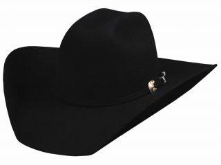 Bullhide Montecarlo KINGMAN 4X Premium Wool Westen Hat 7 1/4 Black