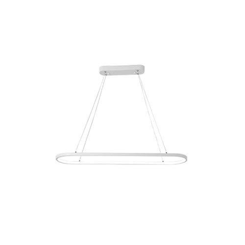 Pinjeer Moderno Simple Oval Hierro Forjado Led Araña Restaurante Europeo Lámparas de Gota Cadena Ajustable Sala de Estar...