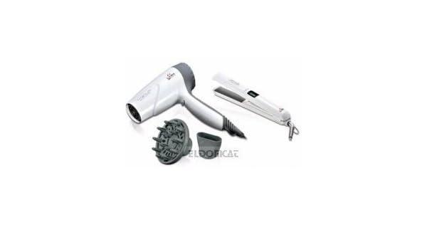 Gama Italy Professional COMBO TITANIUM Secador de pelo y plancha para el pelo: Amazon.es: Salud y cuidado personal