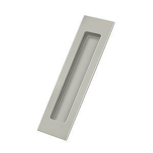 Deltana FP7178U15 Solid Brass Flush Pull, Satin Nickel, Rectangular ()