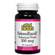 Natural Factors SelenoExcell, levure de sélénium, 200mcg, 90 capsules