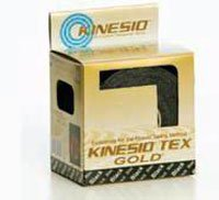 KN-GKT45024 Tape Kinesio Tex Gold Athletic LF 2''x4.3yd Black 6 Roll Per Box Part No. KN-GKT45024 by- National Medical Alliance by The MarbleMed Incorporated