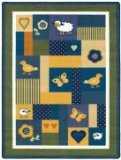 Joy Carpets Kid Essentials Infants & Toddlers Baby Love Rug, Bold, 7'8'' x 10'9''