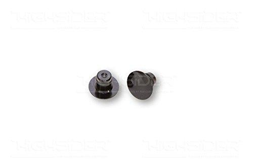 schwarz HIGHSIDER 160-314 CNC Abdeckkappen f/ür M10 Spiegelgewinde Paar.