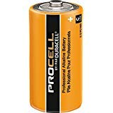 Pack of 100 Duracell PC1400 Procell C Size Alkaline Battery - Bulk Pack