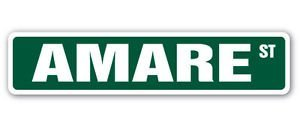 - AMARE Street Sticker Sign name childrens room door gift kid child boy girl wall entry - Sticker Graphic - Auto, Wall, Laptop, Cell, Truck Sticker for windows, cars, trucks, tool boxes, laptops