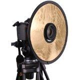 """CowboyStudio 12"""" 2in1 Circular Lens-Mount Light Reflector Silver / Gold"""