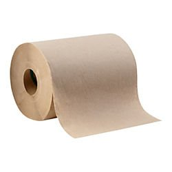 Highmark(R) 1-Ply Hardwound Roll Towels, 8in. x 350ft., 100% Recycled, Brown, Case Of 12