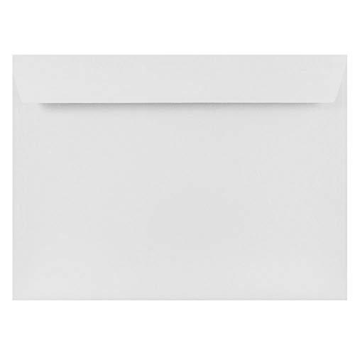 JAM PAPER 9 x 12 Booklet Strathmore Envelopes - Bright White Wove - 25/Pack