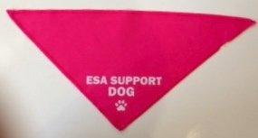 Emotional Support Dog Bandana - Pink