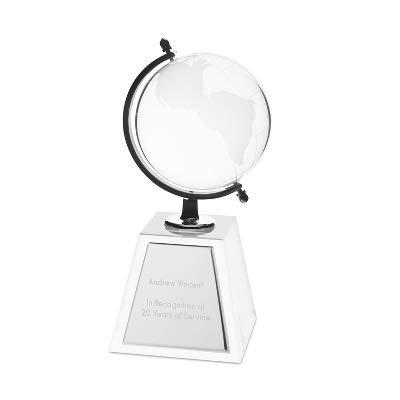 Globe Plaque - Things Remembered Personalized Globe Award with Engraving Included