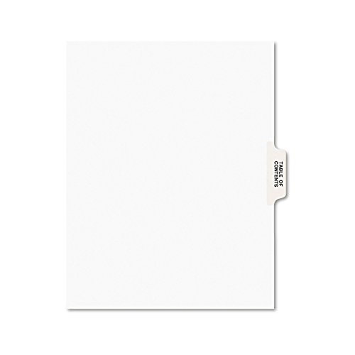 - Avery Individual Legal Dividers, Table of Contents, 25 Dividers (11910)