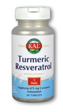 Kal Turmeric Resveratrol Tablets, 30 Count by KAL