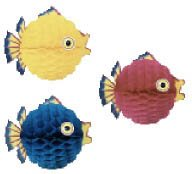 Tissue Bubble Fish - Beistle Tissue Bubble Fish