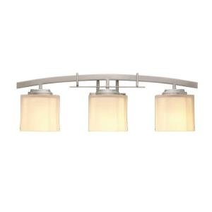 Hampton Bay 15041 Architecture 3-Light Brushed Nickel Vanity Light