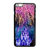 Disney World Cinderella Castle Phone Cover Case for apple iPhone 6/6S plus (5.5 inch) Black Hard Plastic Ultra Slim Case (World Cinderella Castle)