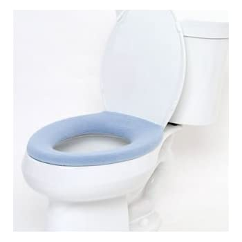 Comfy Covers Germ Resistant Toilet Seat Cover Light Blue