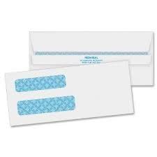 Quality Park #8 Double Window Redi-Seal Envelopes, White, (24539) 100 count