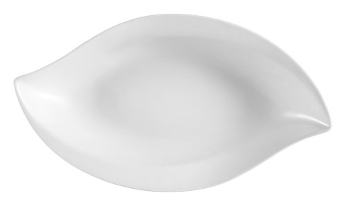 CAC China COL-W5 Super White Porcelain 5-1/2-Inch by 2-7/8-Inch by 1-Inch 2-Ounce Wavy Bowl, Box of 36 by CAC China