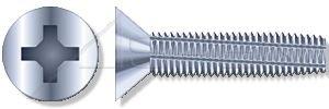 (450 pcs) M4 X 12mm, DIN 7516-D, Metric, Thread-Cutting Screws, Flat Phillips Drive, Full Thread, Steel, Zinc Plated by ASPEN FASTENERS