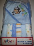Hooded Towel Set with 6 Washcloths
