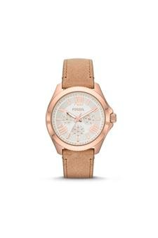 Fossil-Am4532p-Cecile-Multifunction-Sand-Leather-Watch-Watch-For-Women