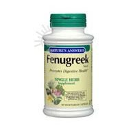 Natures Answer Fenugreek Seed 600 mg Capsule - 90 per pack -- 2 packs per (Natures Answer Single Herb)