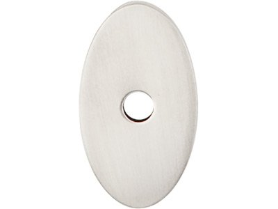 Oval Backplate Finish: Brushed Satin Nickel, Size: 1.25