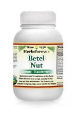 Betel Nut (Areca Catechu) Whole Fruit (Ayurvedic Heart Care Formulation), 60 Vege Capsules, 800 Mg Each - Concentrated