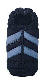 7AM Enfant Blanket 212 Chevron Extendable Baby Bunting Bag Adaptable for Strollers, Metallic Prussian/Metallic Steel Blue