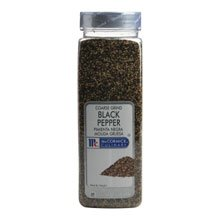 McCormick Coarse Ground Black Pepper - 16 oz. container, 6 per case