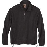 Gravel Gear Zip-Up Fleece Jacket - Black, Large by Gravel Gear