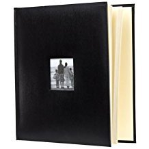 (KVD Kleer-Vu Deluxe Albums, Leatherette Collection, 500 Photos, Photo Album Window Frame on Front Cover, Black)
