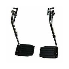 Invacare Wheelchair Swing Away Footrests without Heel Loops, 1 Pair Wheelchair Footrest