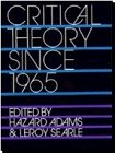 Critical Theory since 1965, Adams, Hazard, 0813008441