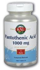 Pan Acid (Acide pantothénique) 1000mg caplets à libération lente - 100 - comprimé à libération prolongée