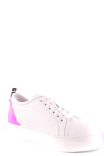 Ezbc016028 Msgm Cuero Mujer Blanco Zapatillas Z8d8q