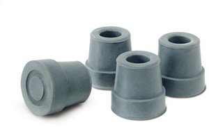 Lumex 9029 Quad Cane Replacement Tips Small Base and one half , Color Gray, Pr-2