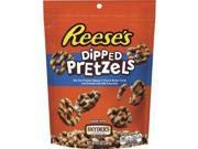 Snacking just got better! bite size Snyder's of Hanover pretzels are dipped in creamy REESEs peanut butter candy and drizzled with HERSHEYs milk chocolate. Grab a handful and get snacking!