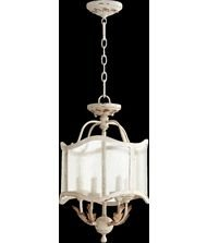 Quorum Lighting 2906-13-70, Salento Drum Pendant, 4 Light, 80 Total Watts, Persian White (White Pendant Persian)