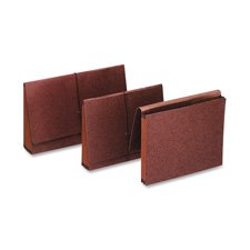 Premium Reinforced Three Inch Expansion Wallets Red Fiber Legal Red ()