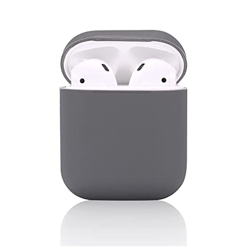 Pinglo Protective Silicone Case Skin Cover Earphone Headphone Sleeve with Metal Latch Key Chain Clasp Buckle with Wireless Charging Supported for Apple Airpods 2 – (Gray)