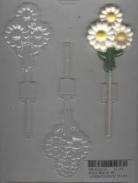 Daisy Pop Candy Molds - Bunch of Daisies Pop Candy Mold