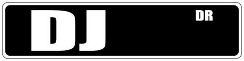 Iliogine Dj Black Street Sign Aluminum Sign Post Home Decor Wall Art Post Plaque for Women ()