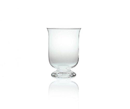 Edwanex grande vetro uragano lanterna/vaso/portacandele 34cm