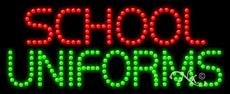 School Uniforms - Ultra Bright LED Sign - 11'' x 27''